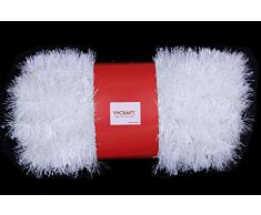 YYCRAFT Weihnachtsgirlande mit Dicker Folie, ca. 45 m 2 Inch Width weiß