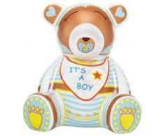 Ritzenhoff 2590013 Mini Teddy Bär A. Mendil, Junge, H12 Bank Spardose, Porzellan, bunt, 7,5 x 9,5 x 10,5 cm