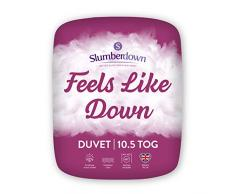 Slumberdown Feels Like Down Bettdecke, Microfaser, weiß, King Size