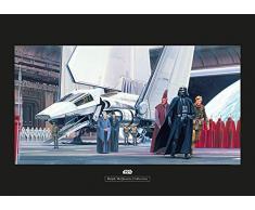 Komar Wandbild Star Wars Classic RMQ Death Star Shuttle Dock | Kinderzimmer, Jugendzimmer, Dekoration, Kunstdruck | ohne Rahmen | WB133-70x50 | Größe: 70 x 50 cm (Breite x Höhe)