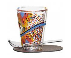 RITZENHOFF A Cuppa Day Espressoglas, Glas, schwarz/blau/gelb/rot, 5.7 cm