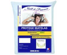 Nuit de France 329403 Schutzbezug für Matratze, Baumwolle/PVC, Weiß, weiß, 70 x 190 cm