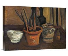 Global Galerie Budget gcs-265732–55,9–360,7 cm Vincent Van Gogh Still Life of Tuschkasten in a Blumentopf Galerie Wrap Giclée-Kunstdruck auf Leinwand Art Wand