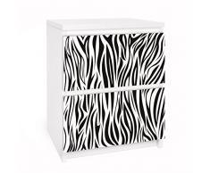 Apalis 91197 Möbelfolie für Ikea Malm Kommode - Selbstklebe Zebra Pattern, größe 2 mal, 20 x 40 cm