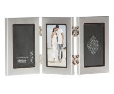 Pinnacle Frames Triple Silber Schreibtisch Rahmen mit Innen Schwarz, 6,3 cm von 8,9 cm