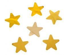 Rayher 87176616 Folien Konfetti Sterne, 3cm Ø, Gold