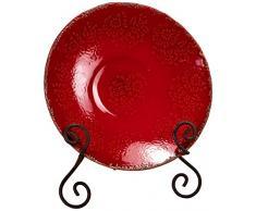 Napco Deko-Schale, glasiert, Rot