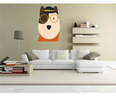 INDIGOS KAR-Wall-clm041-58 Wandtattoo fürs Kinderzimmer clm041 - Lustige kleine Monster - Niedlichen Hund - Wandaufkleber 58 x 93 cm