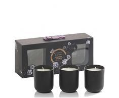 RITZENHOFF Aroma Naturals Noir 3er Set Kerzen, Rosewood Macaron, in Geschenkverpackung