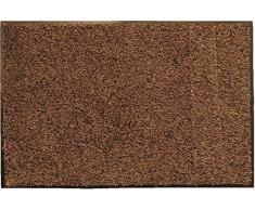oKu-Tex Fußmatte | Schmutzfangmatte | Eco-Dry| Braun | Baumwolle | Recycling-Gummi | für innen | Eingangsbereich / Haustür / Flur | rutschfest | 40x60 cm