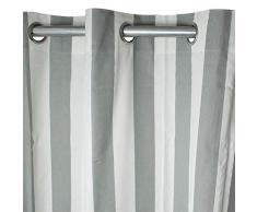 Vorhang mit Ösen West Coast (250x 150cm) grau/ecru
