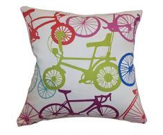 Das Kissen Collection Echuca Fahrräder Kissenbezug Konfetti, gelb
