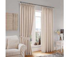Just Contempo Vorhang, Polyester, Curtain Pair 46 x 90 (traditional), cremefarben, Stück: 1