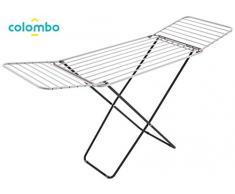 Colombo Wäscheständer mit Flügeln, 20 m, Schwarz, Large