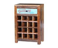 Sit Möbel 5737-98 Weinregal Speedway, 58 x 35 x 80 cm, recyceltes Altholz, bunt lackiert