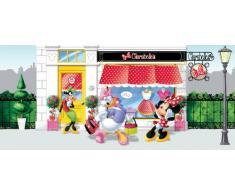AG Design FTDh 0622 Minnie Maus Disney, Papier Fototapete Kinderzimmer - 202x90 cm - 1 Teil, Papier, multicolor, 0,1 x 202 x 90 cm