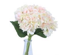 Anna Homey Decor Künstliche Blumen, Hortensien, Seide, Blau, 33,8 cm hoch, für Hochzeit, Brautstrauß, Couchtisch, Badezimmer, Wohnzimmer-Dekoration, 3 Stück Rose