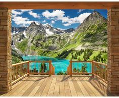 Walltastic Alpen, Tapete, Wandbild, Paper, bunt, 12 x 7 x 52.5 cm