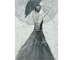 Eurographics JI1038 Joani, Beautiful Back with Parasol 50 x 70 cm, Hochwertiger Kunstdruck - Akt - Erotik