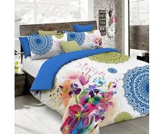 Kiosa Bettwäsche für Doppelbett 250 x 200 cm Multicolore (Ko618)