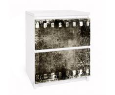 Apalis 91187 Möbelfolie für Ikea Malm Kommode - Selbstklebe Vintage Film, größe 2 mal, 20 x 40 cm