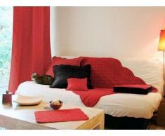 Soleil docre Vorhang mit Schlaufen, Tagesdecke Baumwolle rot???