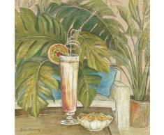 Eurographics LYM1001 Lynne Misiewicz, Palm Cocktail 70 x 70 cm, Hochwertiger Kunstdruck