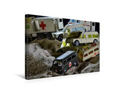 Premium Textil-Leinwand 45 x 30 cm Quer-Format Spielzeug Sanitäts - Transporter | Wandbild, HD-Bild auf Keilrahmen, Fertigbild auf hochwertigem Vlies, Leinwanddruck von Ingo Laue