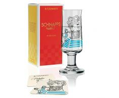 RITZENHOFF Schnapps Schnapsglas von Natalia Yablunovska, aus Kristallglas, 40 ml, mit fünf Schnapsdeckeln