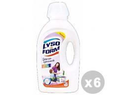 Lysoform Set 6 Waschmittel Waschmaschine Flüssigkeit 21Wäschen Sichtschutz Farbe 1,365LT.