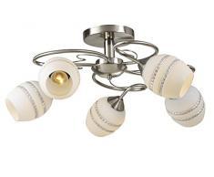 Lampex Beja 5 293/5 Kronleuchter, Metall, E27, Weiß