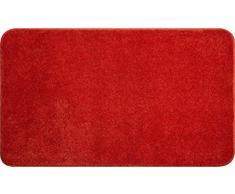 Linea Due Badteppich 100% Polyacryl, ultra soft, rutschfest, ÖKO-TEX-zertifiziert, 5 Jahre Garantie, FANTASTIC, Badematte 70x120 cm, orange