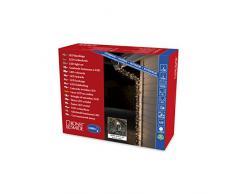 Konstsmide 3648-110 Micro LED Lichterkette, gefrostet / für Außen (IP44) / 1000 warm weiße Dioden / 24V Außentrafo / schwarzes Kabel