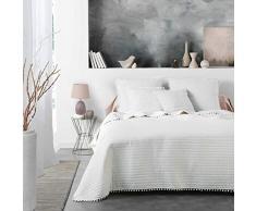 Douceur dIntérieur Dorinette Tagesdecke für Einzelbett, matt, Weiß, 180 x 220 cm, weiß, 240 x 260 cm