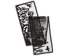 Heritage Spitze, gruseliger Läufer, hohl, Schwarz 14x72 schwarz