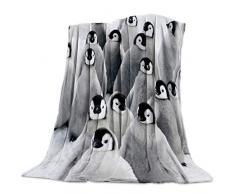 LUSWEET Überwurf, warm, flauschig, flauschig, Fleece, Bettdecke, Vintage, Paris, Effiel-Turm, violette Blume, leicht, super weich für Kinder oder Erwachsene, Sofa, Bett, Couch für alle Jahreszeiten 50 x 60 Inch Penguinlst2572