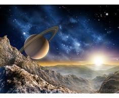 AG Design FTxxl 1414 Saturn, Papier Fototapete - 360x255 cm - 4 teile, Papier, multicolor, 0,1 x 360 x 255 cm