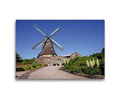 Premium Textil-Leinwand 75 x 50 cm Quer-Format Windmühle Auguste in Groß Wittensee   Wandbild, HD-Bild auf Keilrahmen, Fertigbild auf hochwertigem Vlies, Leinwanddruck von Beate Bussenius