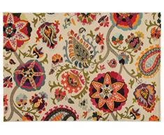 Viva ABC Teppich Tangeri 1 weiß 133 x 190 cm, Synthetikfaser, Multicolored, 190 x 133 x 1.7 cm