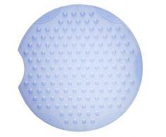 Ridder Tecno Ice Duscheinlage, 100% synthetischer Kautschuk (TPE = Thermoplastisches Elastomere), Transparent-blau, ca. Ø 55 cm