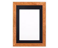 Montiert Breite Konfetti Holz Rahmen Range Fotorahmen | Bilderrahmen | Poster-m-wd-cnfeti-rnge-2-parent, Teak with Black Bespoke Mount, 10x8 for 8x6 Pictures