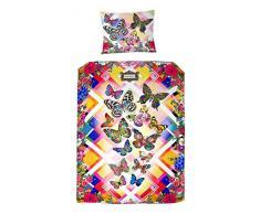 Melli Mello farbig Kinderbettwäsche Semma mit Schmetterlinge, 200 x 135 x 0,5 cm, mehrfarbig