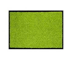 ASTRA hochwertige Schmutzfangmatte – waschbare Fußabstreifer – robuster – langlebige Fußabtreter – für den Indoorbereich – grün – 60 x 90 cm