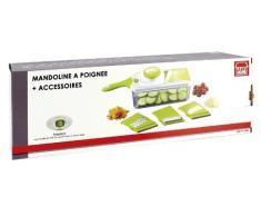 The Küchenzeile 5040318 Mandoline + Zubehör Kunststoff weiß/grün 37,5 x 11 x 11 cm