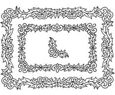 Crafty Impressions A6 Sue Dix Weihnachtskugeln und Wimpelkette Stempel Elegante Rahmen und Ecken durchsichtig