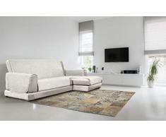 Italian Bed Linen Sofabezug, rutschfest, rechts 190 cm cremeweiß