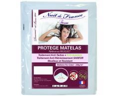 Nuit de France 329394 Schutzbezug für Matratze, Baumwolle, Weiß, weiß, 80 x 200 cm