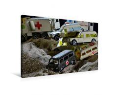 Premium Textil-Leinwand 75 x 50 cm Quer-Format Spielzeug Sanitäts - Transporter | Wandbild, HD-Bild auf Keilrahmen, Fertigbild auf hochwertigem Vlies, Leinwanddruck von Ingo Laue