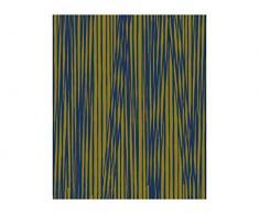 Pt, (Present Time) Fleece Decke Oblique Lines olivgrün, dunkelblau, Vlies, Grün, L. 180 cm, W. 150 cm