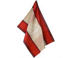 Kela 11755 Geschirrtuch Frida Cupcake, Baumwolle, rot / beige, 50 x 70 x 1 cm
